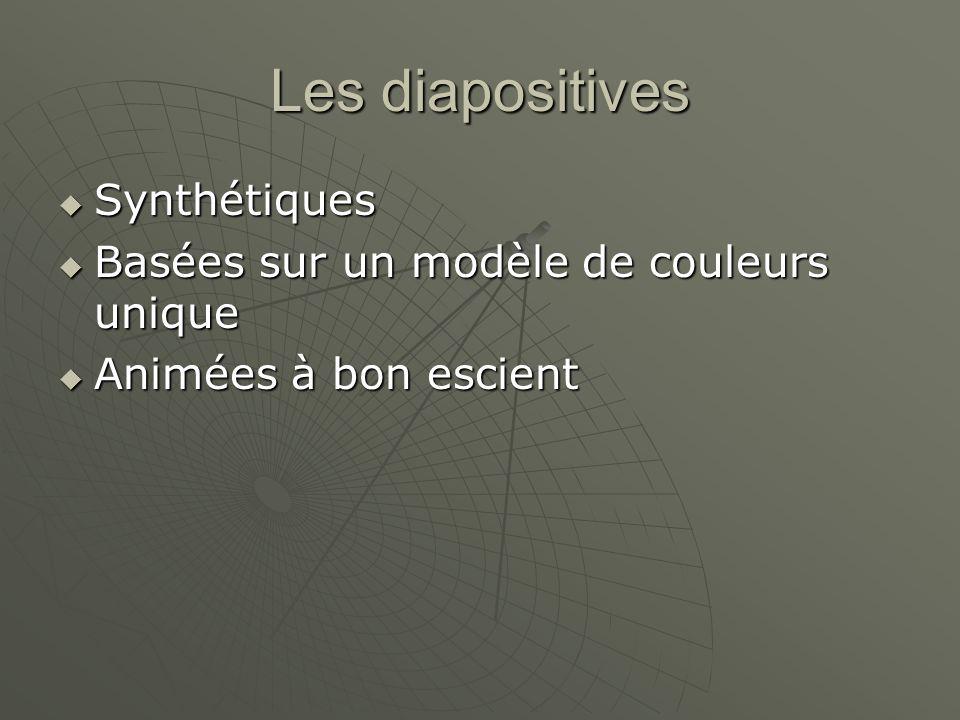 Les diapositives Synthétiques Basées sur un modèle de couleurs unique
