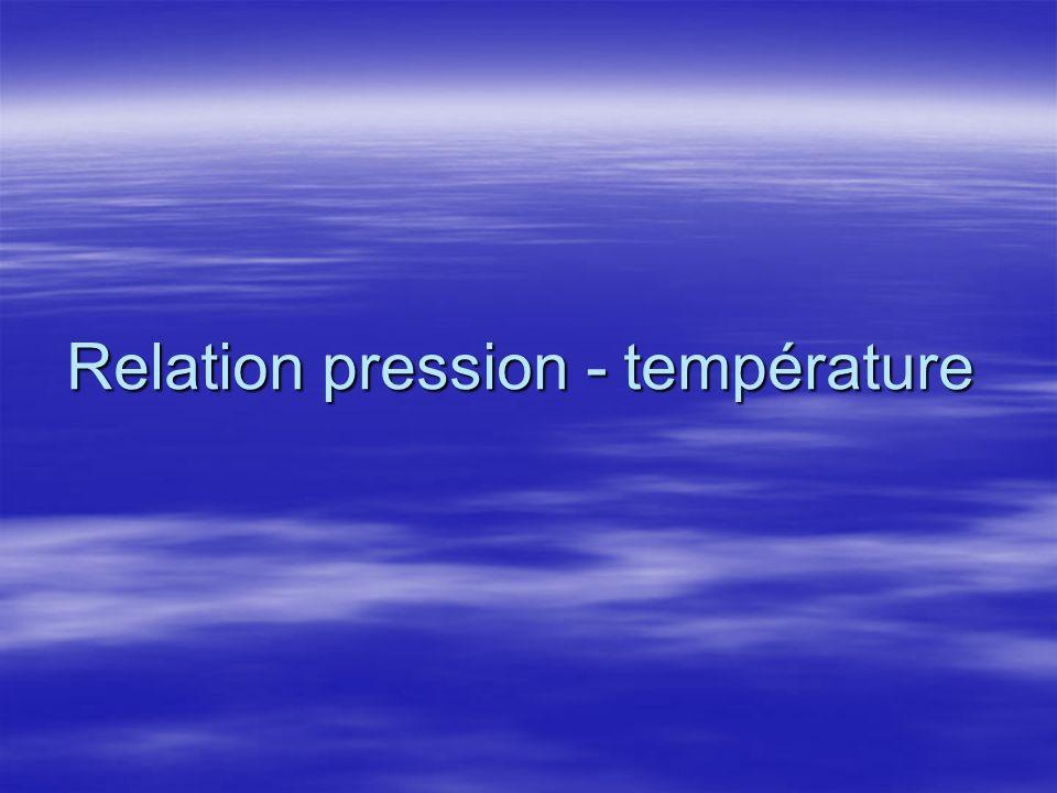 Relation pression - température
