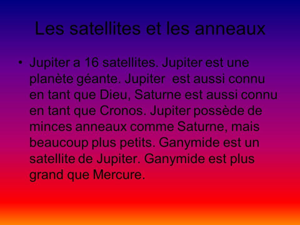 Les satellites et les anneaux