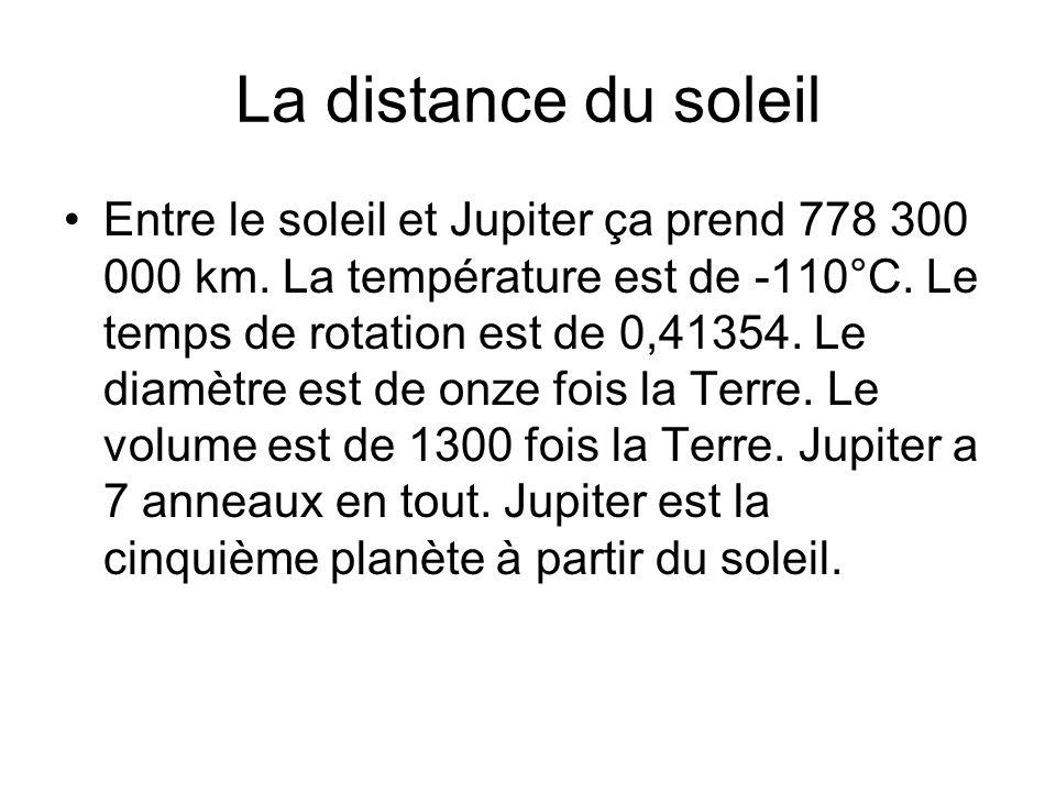 La distance du soleil