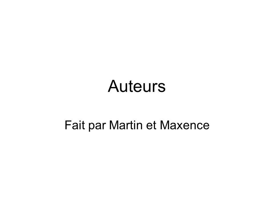 Fait par Martin et Maxence