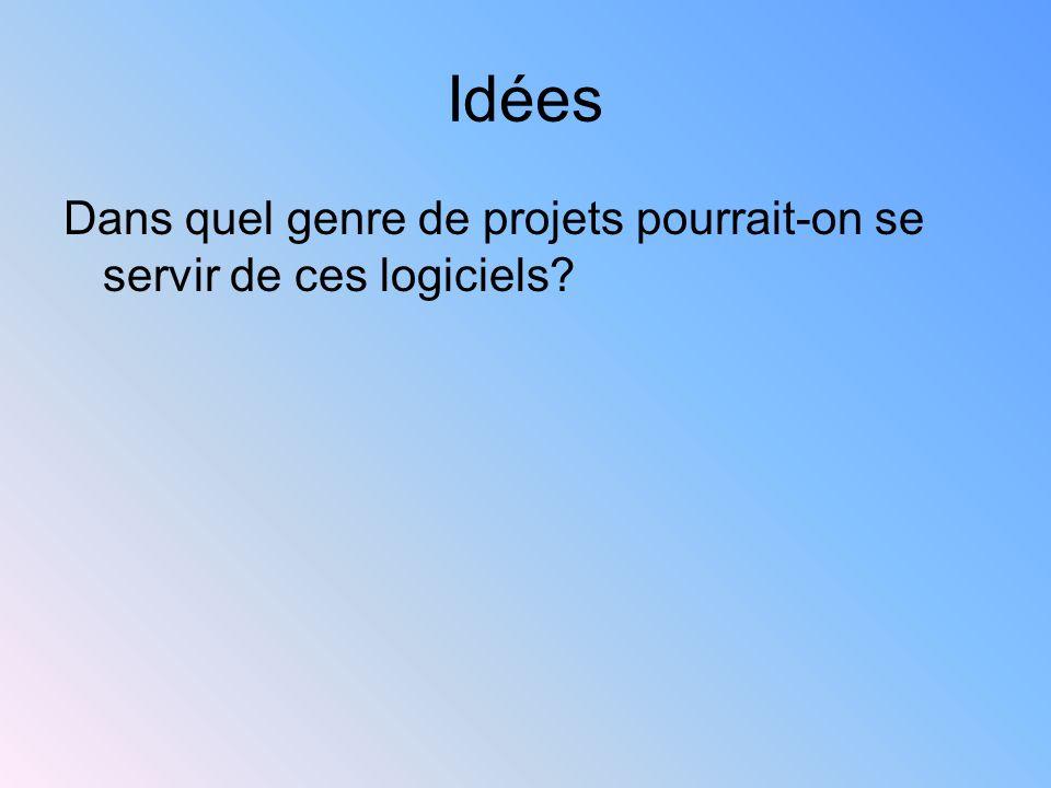 Idées Dans quel genre de projets pourrait-on se servir de ces logiciels