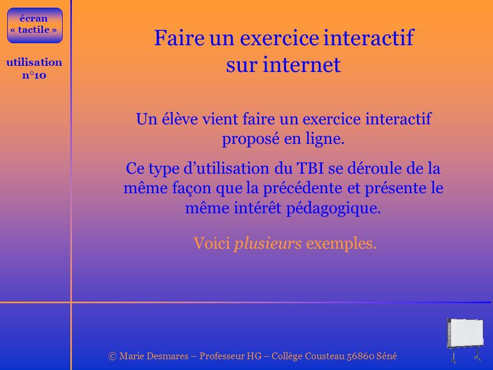 Faire un exercice interactif sur internet