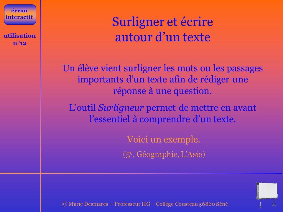 © Marie Desmares – Professeur HG – Collège Cousteau 56860 Séné