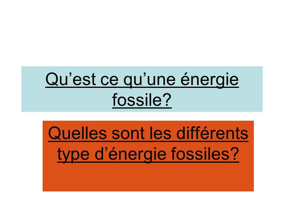 Qu'est ce qu'une énergie fossile