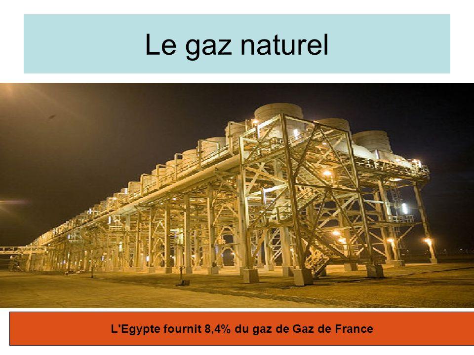 L Egypte fournit 8,4% du gaz de Gaz de France