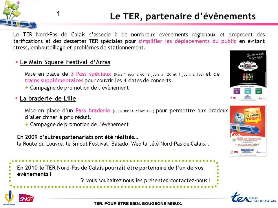 Le TER, partenaire d'évènements