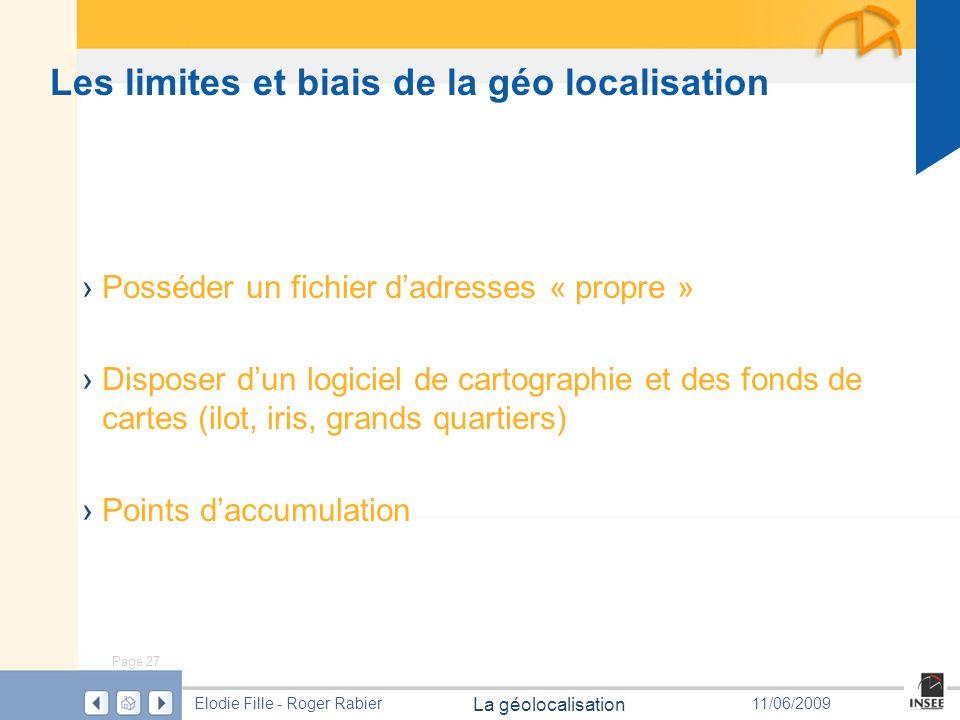 Les limites et biais de la géo localisation