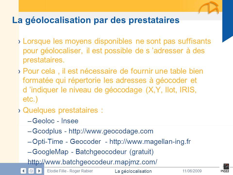 La géolocalisation par des prestataires