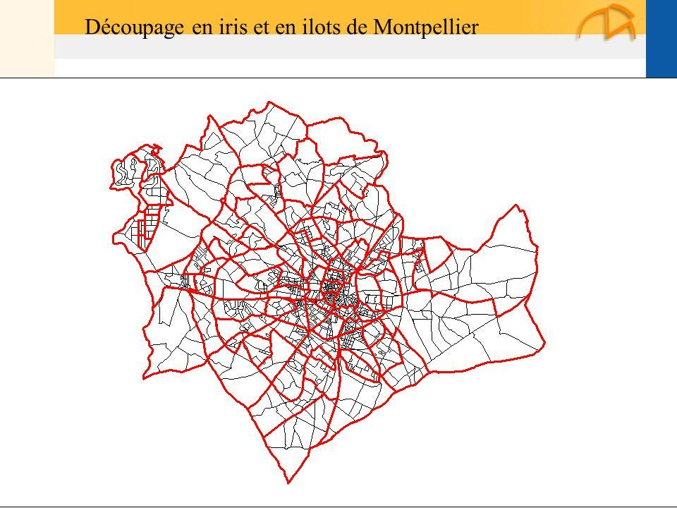 Découpage en iris et en ilots de Montpellier
