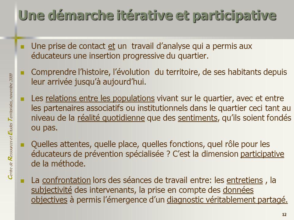 Une démarche itérative et participative