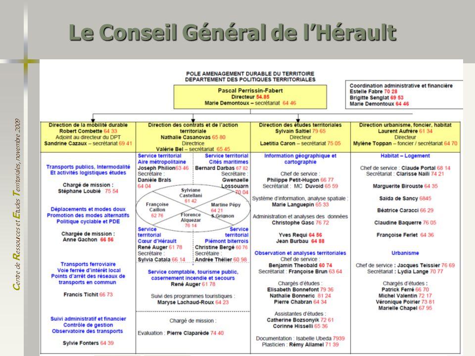 Le Conseil Général de l'Hérault