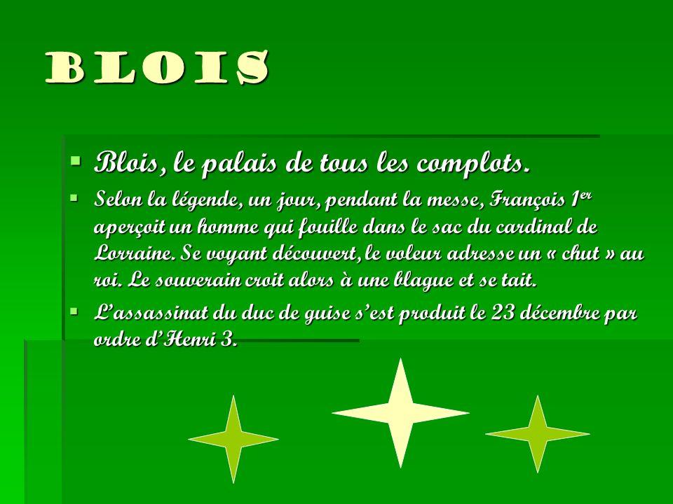 Blois Blois, le palais de tous les complots.
