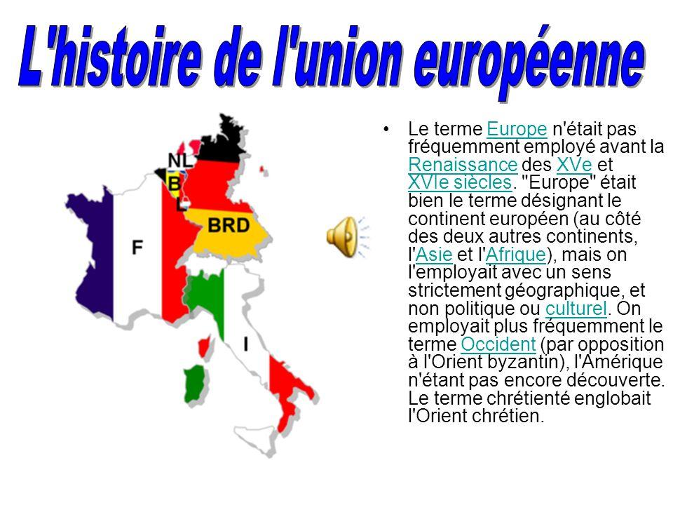 L histoire de l union européenne