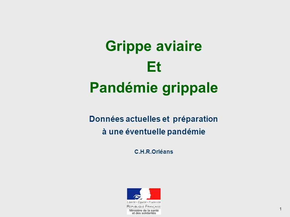 Données actuelles et préparation à une éventuelle pandémie
