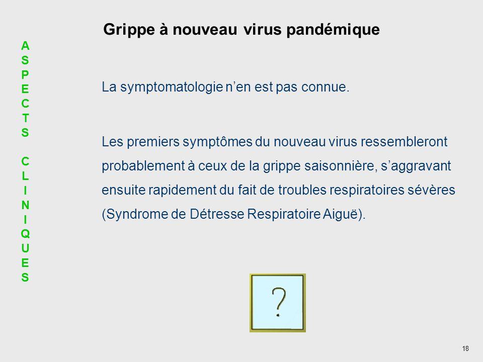 Grippe à nouveau virus pandémique
