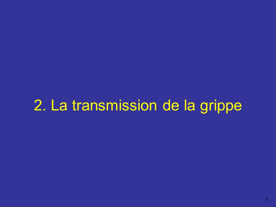 2. La transmission de la grippe