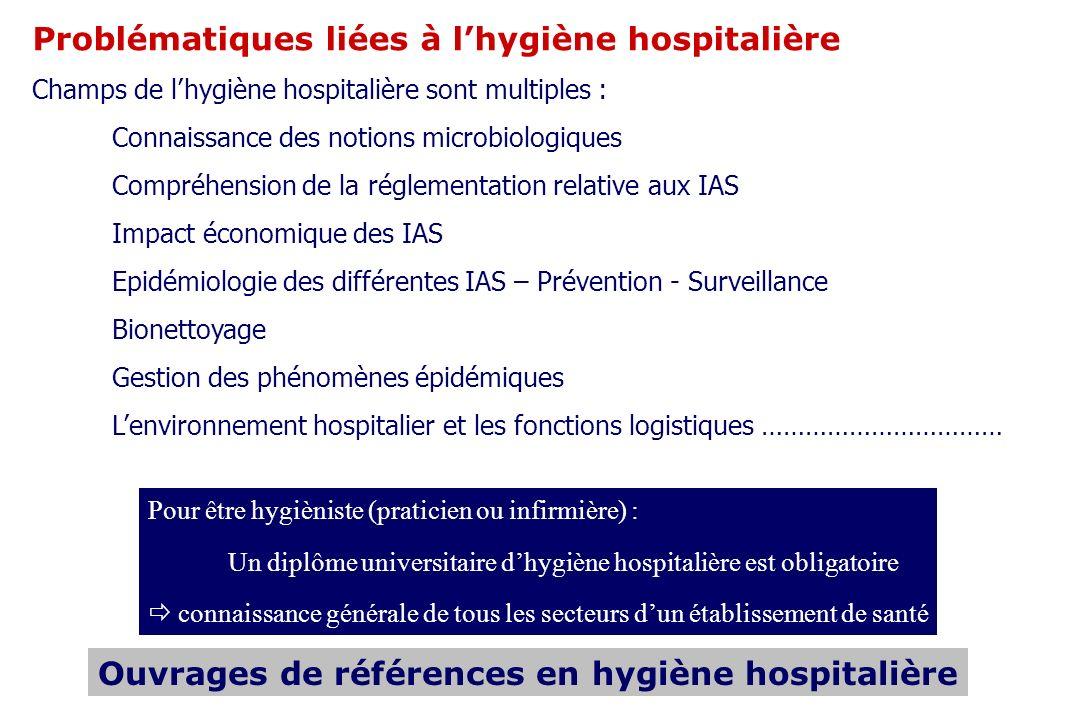 Ouvrages de références en hygiène hospitalière