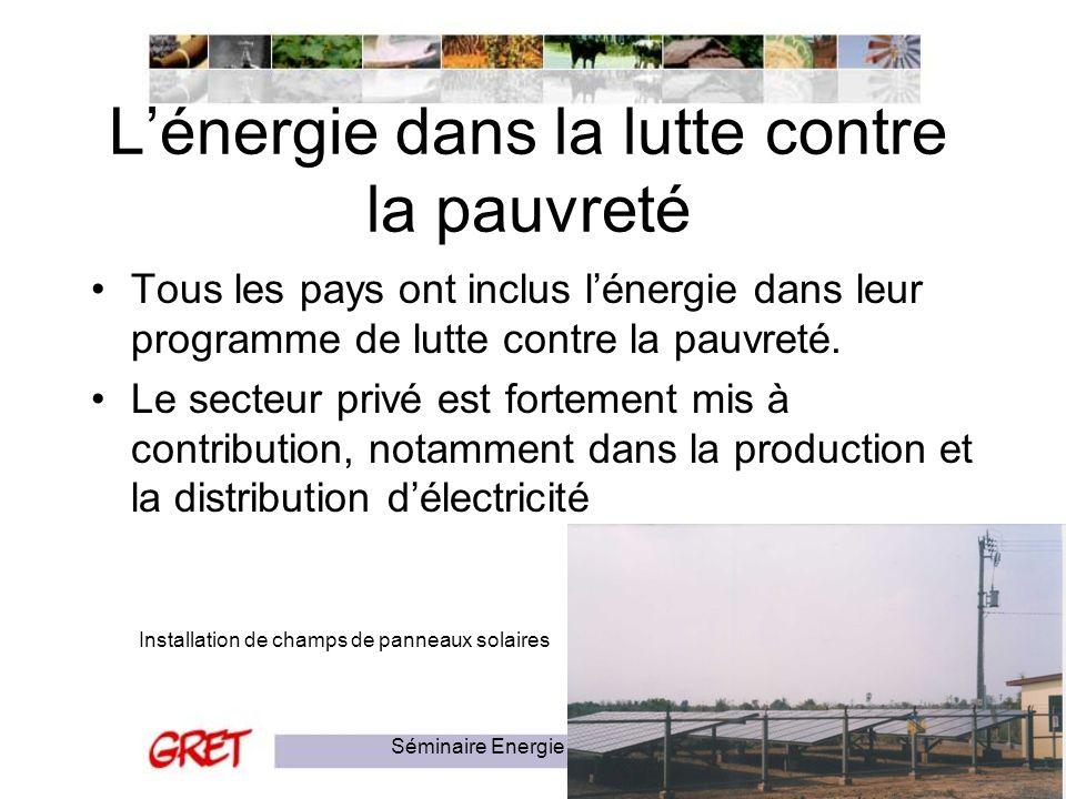 L'énergie dans la lutte contre la pauvreté