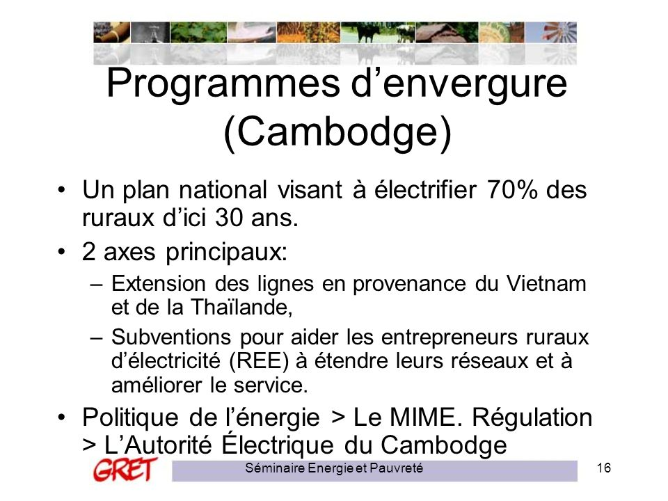 Programmes d'envergure (Cambodge)