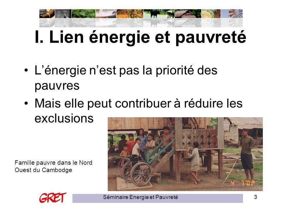 I. Lien énergie et pauvreté