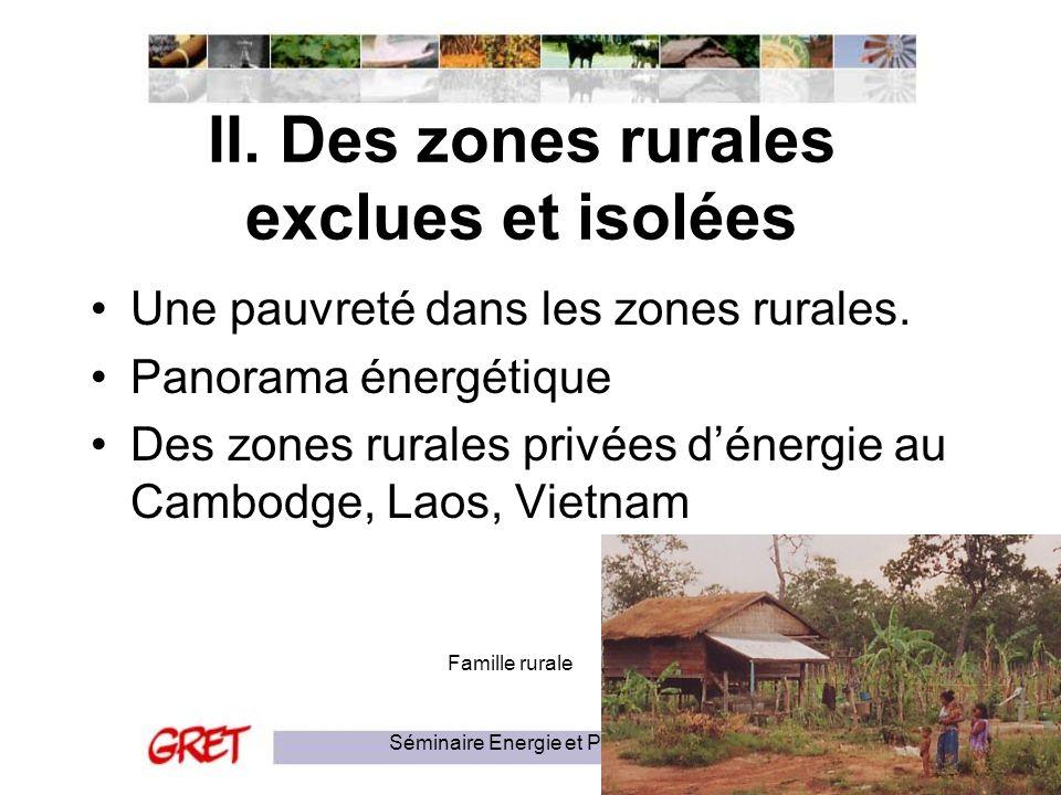 II. Des zones rurales exclues et isolées