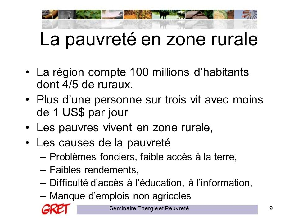 La pauvreté en zone rurale