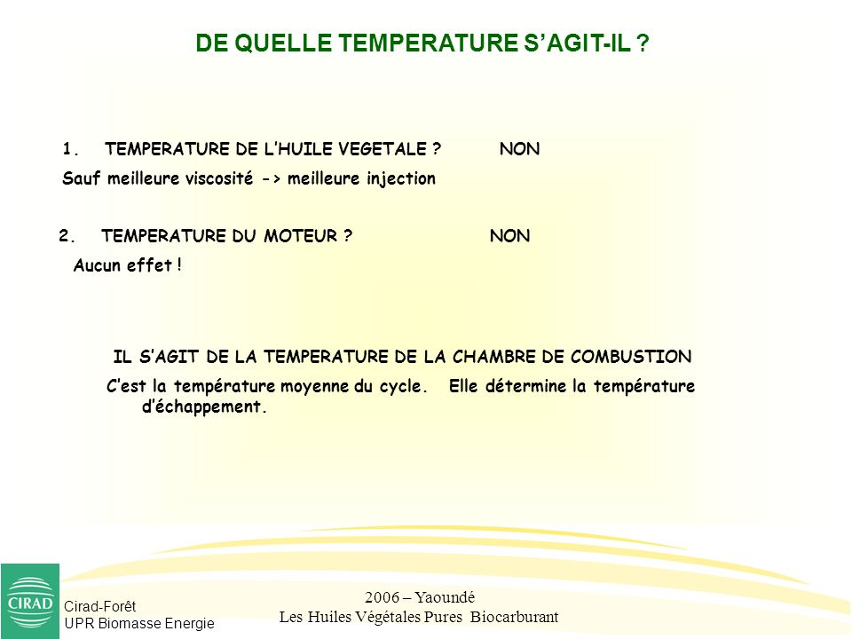 DE QUELLE TEMPERATURE S'AGIT-IL