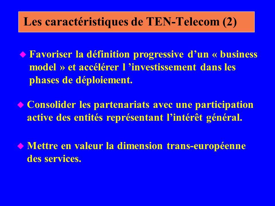 Les caractéristiques de TEN-Telecom (2)