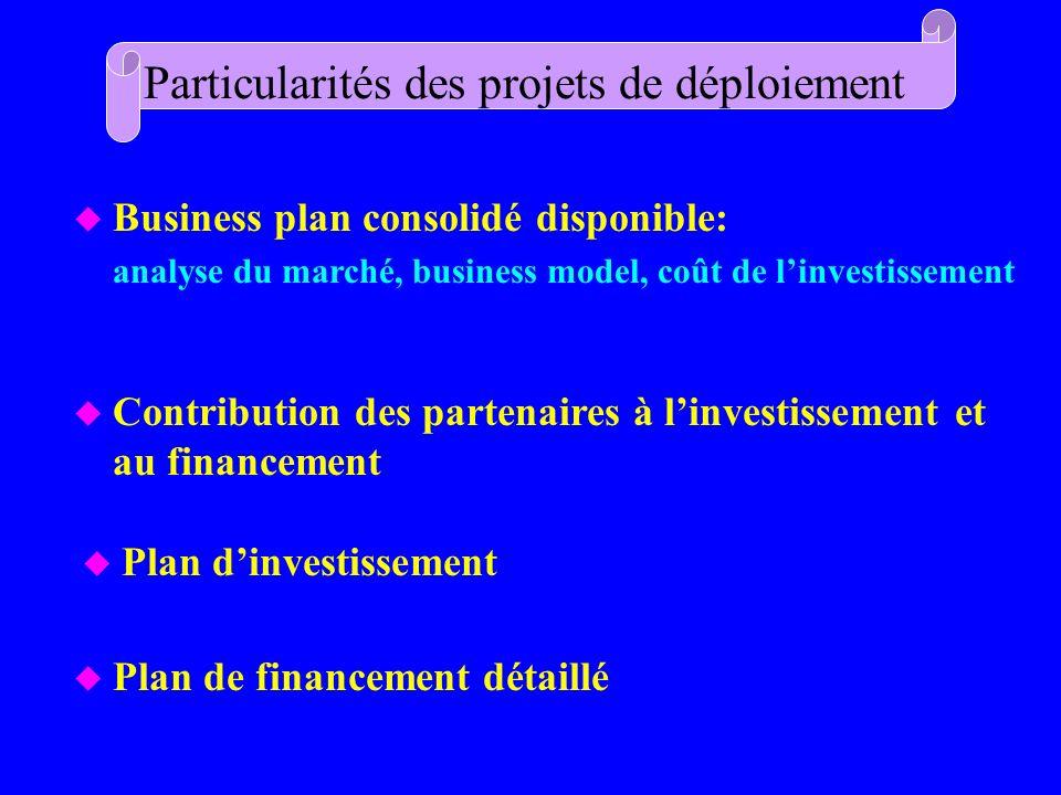 Particularités des projets de déploiement