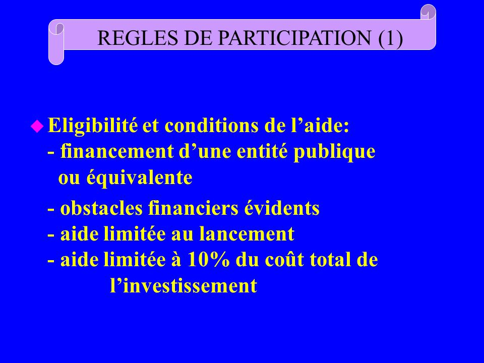 REGLES DE PARTICIPATION (1)