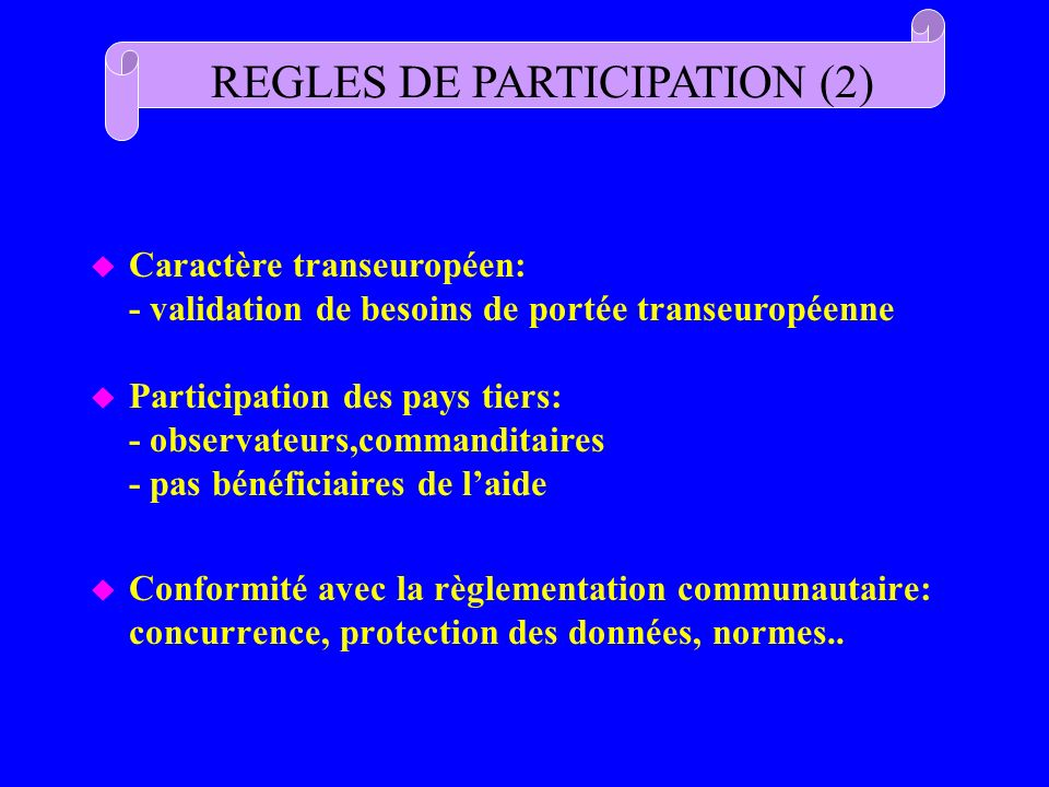 REGLES DE PARTICIPATION (2)