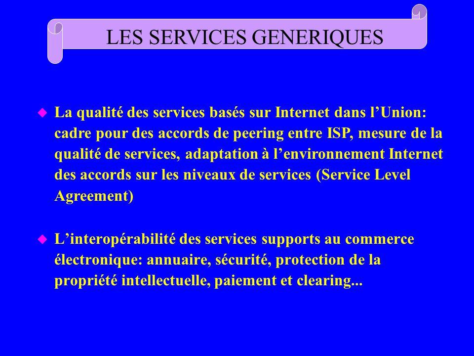LES SERVICES GENERIQUES