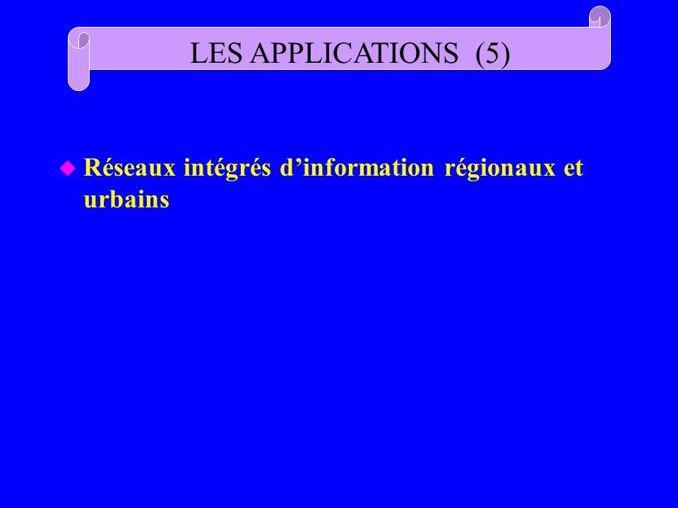 LES APPLICATIONS (5) Réseaux intégrés d'information régionaux et urbains