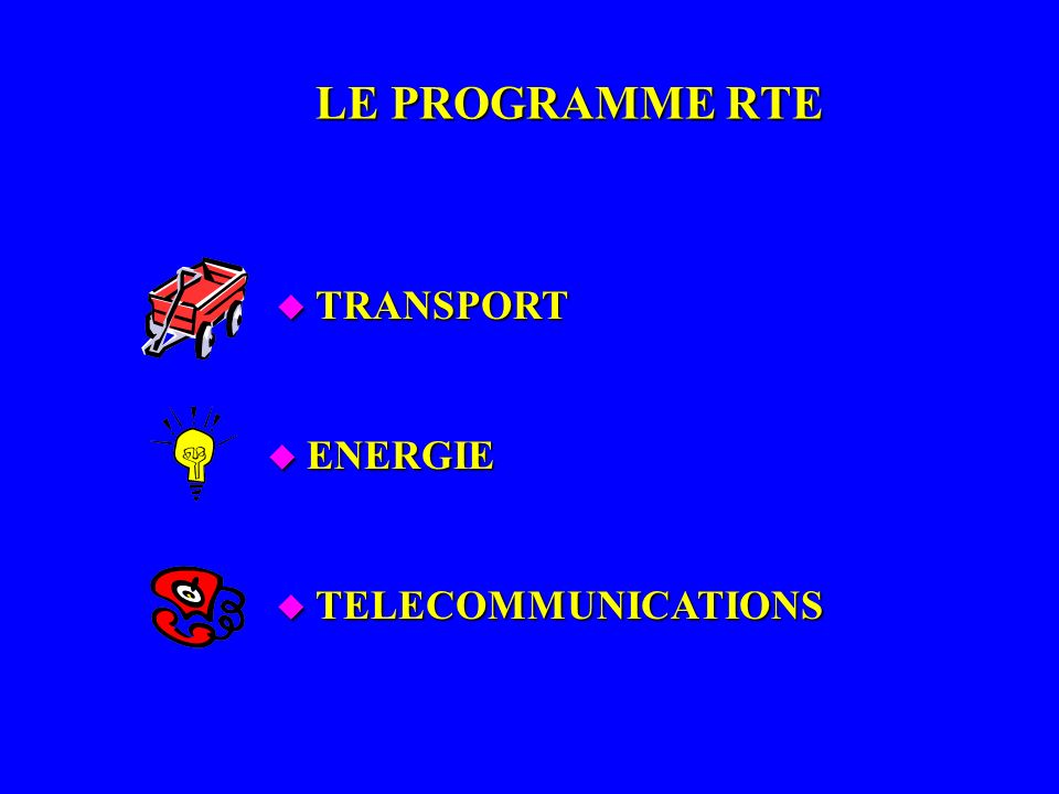 LE PROGRAMME RTE TRANSPORT ENERGIE TELECOMMUNICATIONS