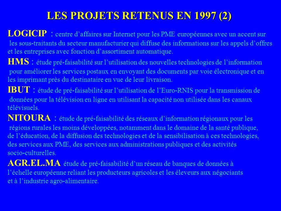 LES PROJETS RETENUS EN 1997 (2)