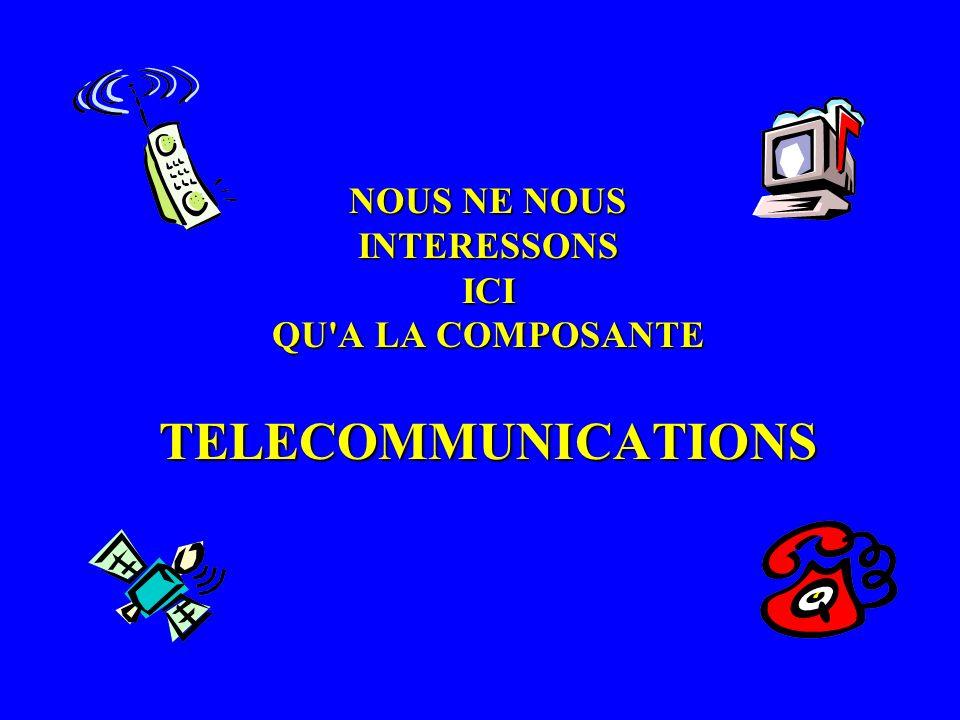 NOUS NE NOUS INTERESSONS ICI QU A LA COMPOSANTE TELECOMMUNICATIONS