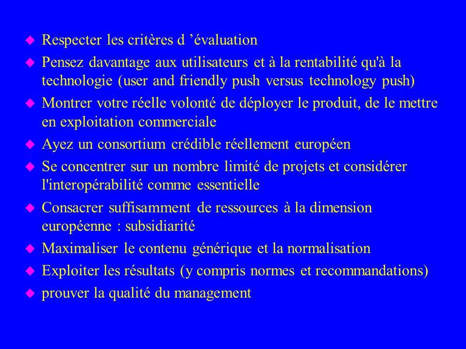 Respecter les critères d 'évaluation
