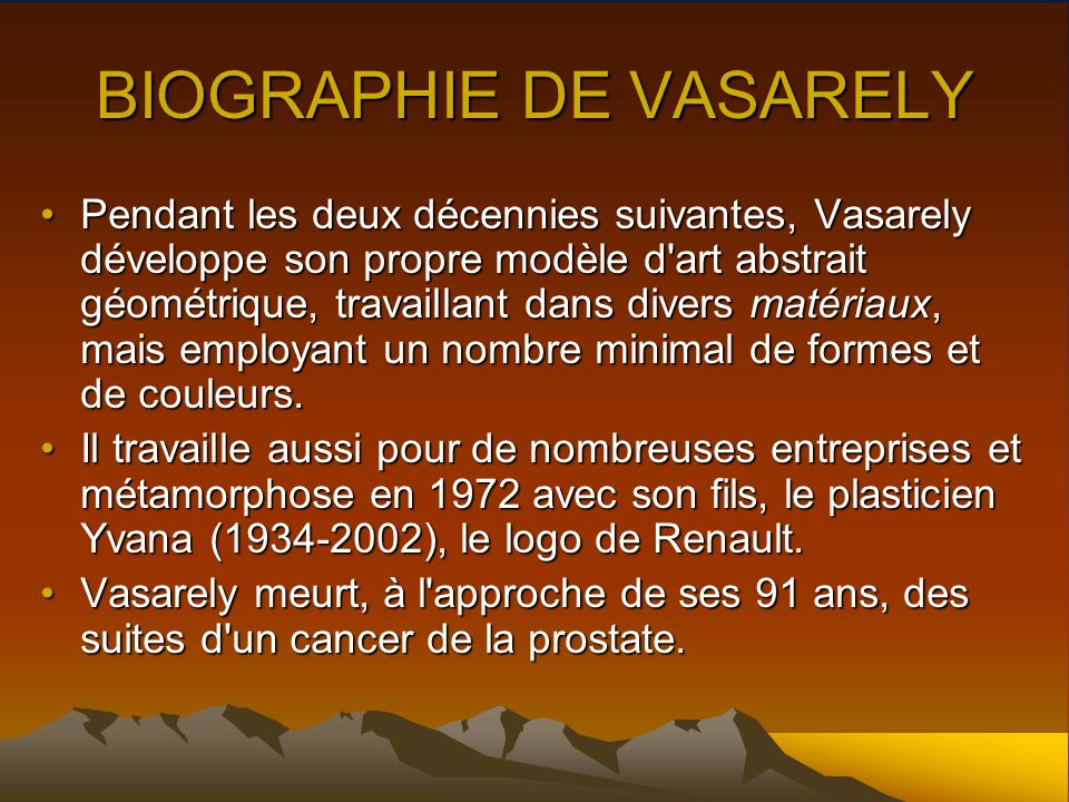BIOGRAPHIE DE VASARELY