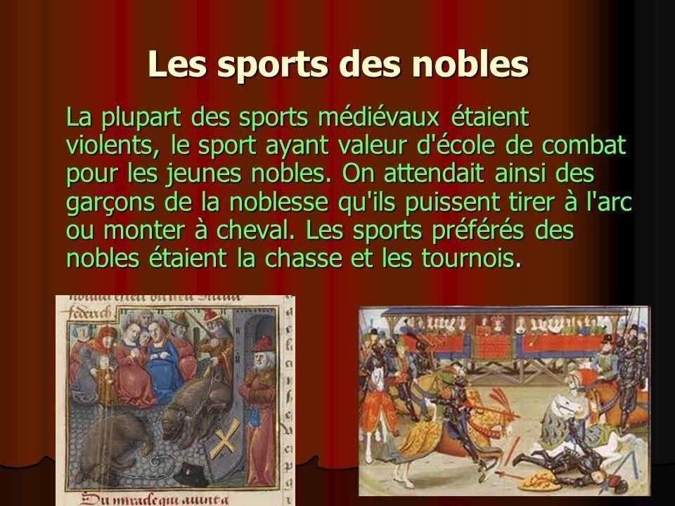 Les sports des nobles