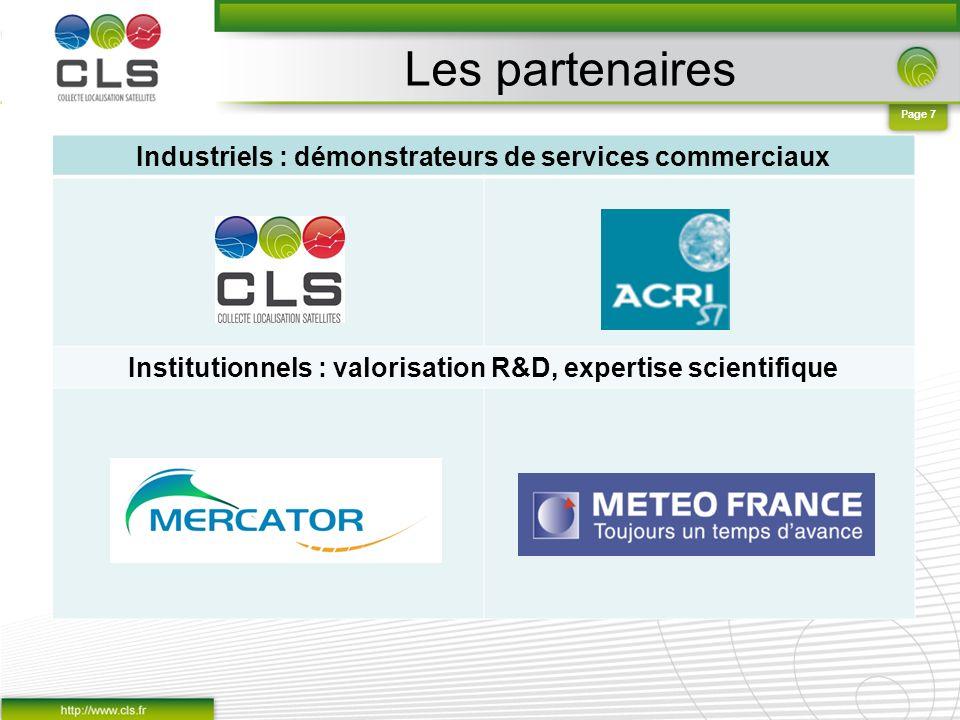 Les partenaires Industriels : démonstrateurs de services commerciaux