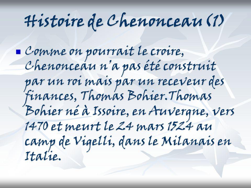 Histoire de Chenonceau(1)