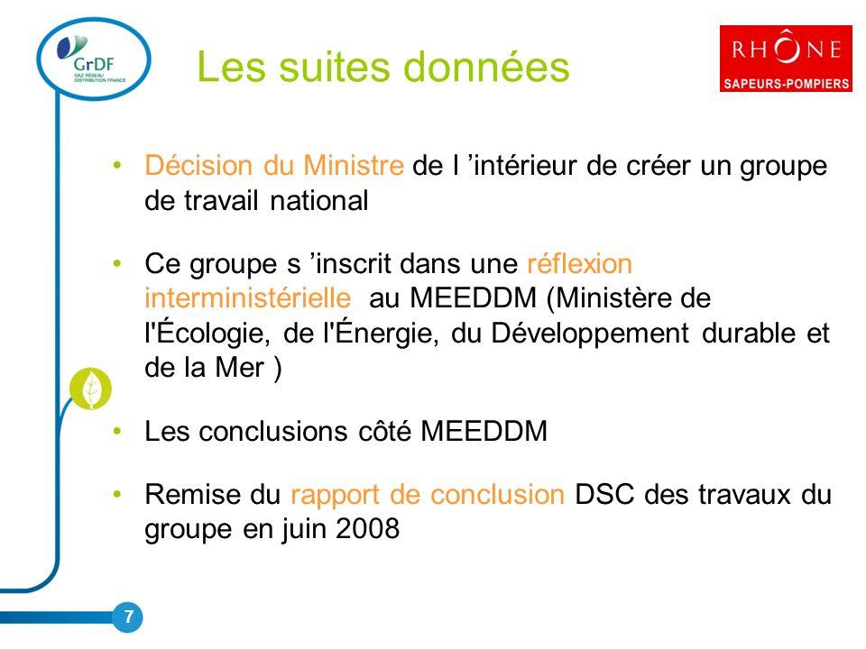 Les suites données Décision du Ministre de l 'intérieur de créer un groupe de travail national.