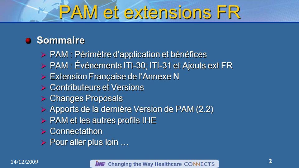 PAM et extensions FR Sommaire