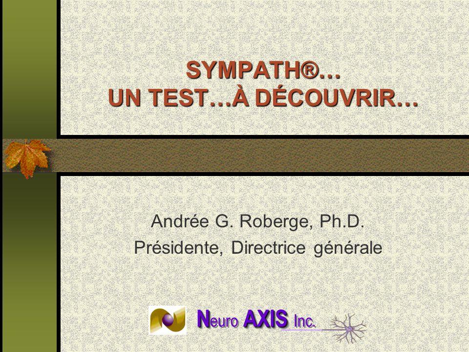 SYMPATH®… UN TEST…À DÉCOUVRIR…