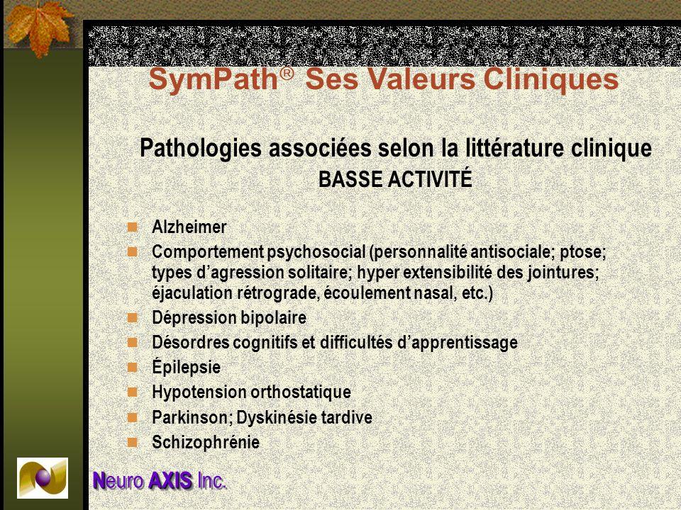 Pathologies associées selon la littérature clinique