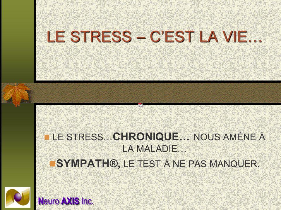 LE STRESS – C'EST LA VIE…