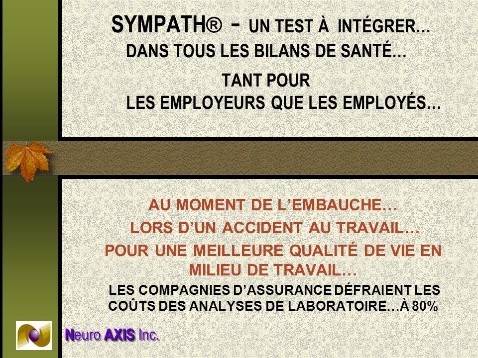 SYMPATH® - UN TEST À INTÉGRER…. DANS TOUS LES BILANS DE SANTÉ…