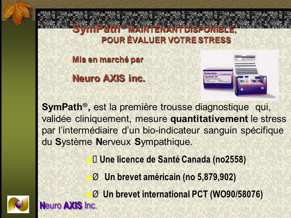 SymPath MAINTENANT DISPONIBLE,. POUR ÉVALUER VOTRE STRESS