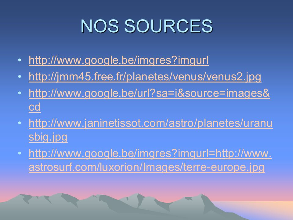 NOS SOURCES http://www.google.be/imgres imgurl